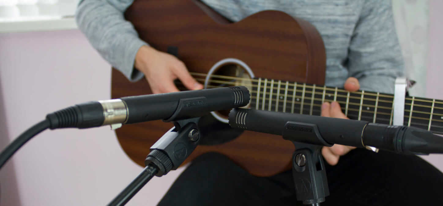 5 Essential Tips For Recording Acoustic Guitar Audient Mic Shure Sm57 Instrumen Another Popular Technique Is X Y This Youre Going To Want Place Each Microphone With Their Diaphragms As Close Possible