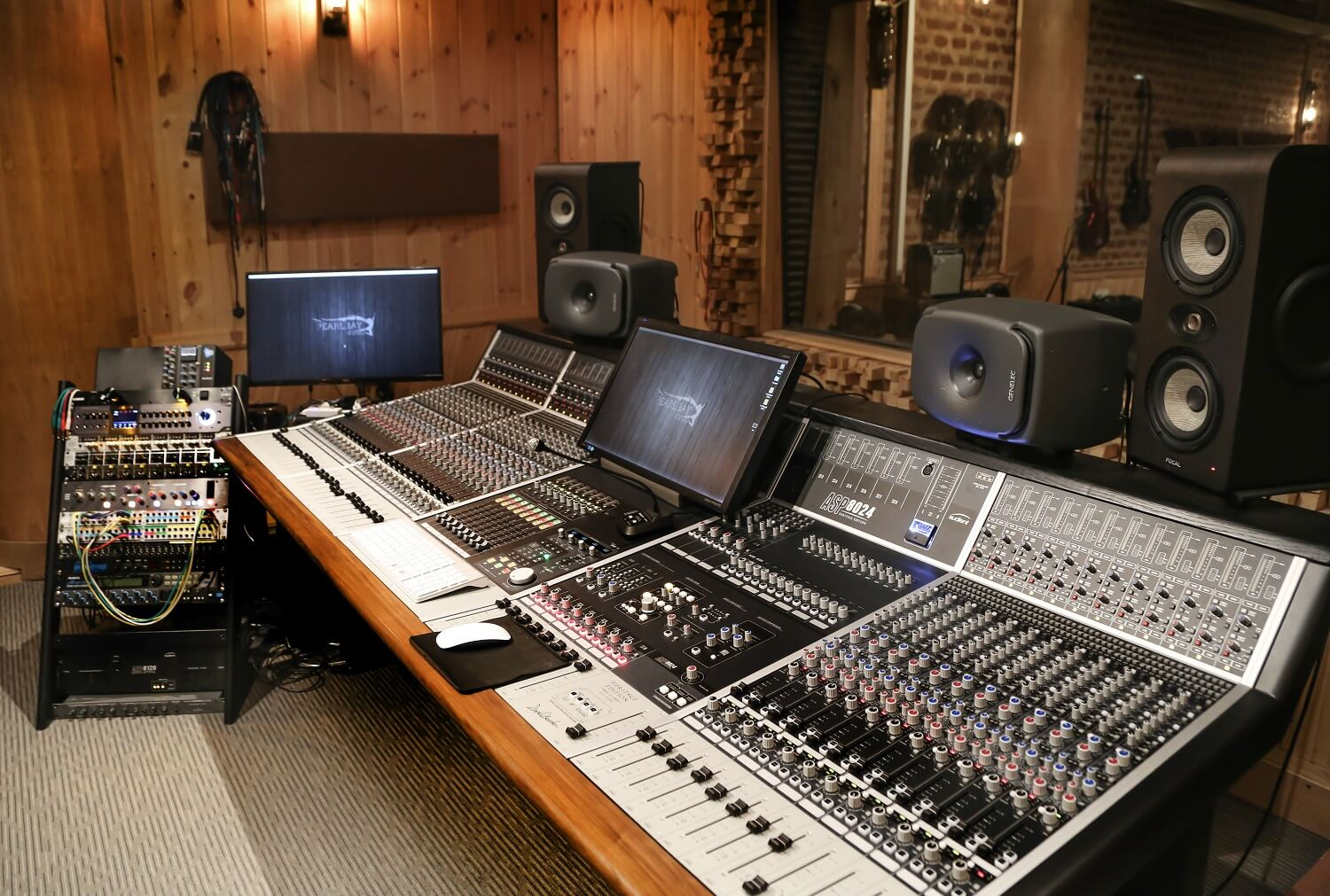 Mixing console in studio complex